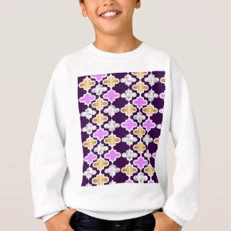 Beautiful girly pattern with gold and purple sweatshirt