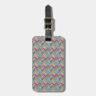 Beautiful girly trendy colourful zigzag chevron luggage tag