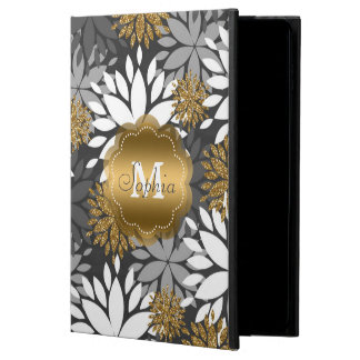 Beautiful girly trendy monogram floral powis iPad air 2 case