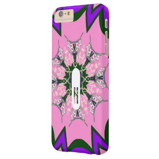 Beautiful girly trendy monogram floral pattern diy barely there iPhone 6 plus case