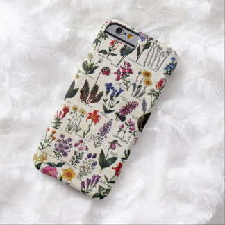 Beautiful Girly Wildflowers Antique Floral Barely There iPhone 6 Case