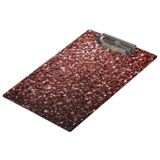 Beautiful Glam Brown Red Glitter sparkles Clipboard