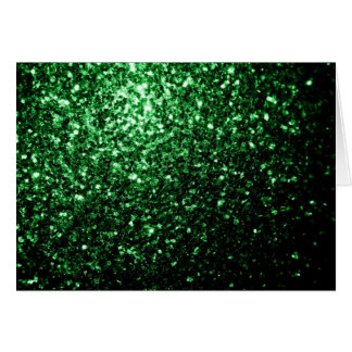 Beautiful Glamour Dark Green glitter sparkles Card
