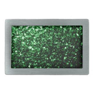 Beautiful Glamour Green glitter sparkles Rectangular Belt Buckle