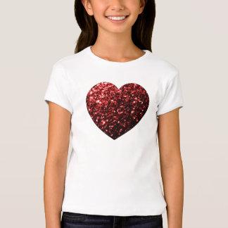 Beautiful Glamour Red Glitter sparkles Heart Shirt