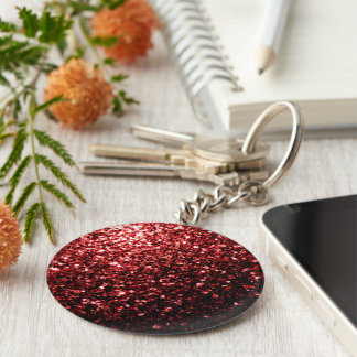 Beautiful Glamour Red Glitter sparkles Keychain