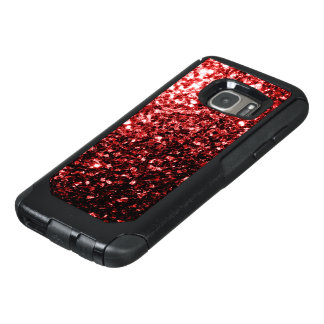 Beautiful Glamour Red Glitter sparkles OtterBox Samsung Galaxy S7 Case