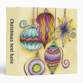 Beautiful Glass Colorful Christmas Ornaments 3 Ring Binders
