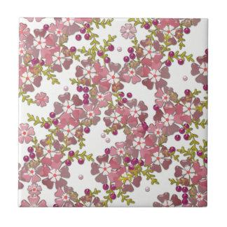 Beautiful glass flowers tile