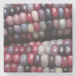 Beautiful Glass Gem Corn. Stone Coaster
