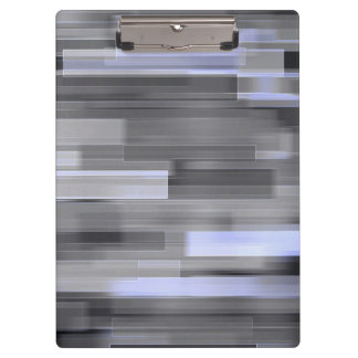 Beautiful Glitter Squares Gray Mosaic Abstract Clipboards