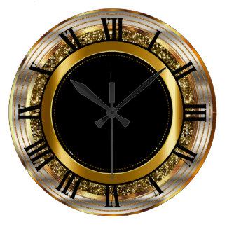 Beautiful Gold and Black Large Clock
