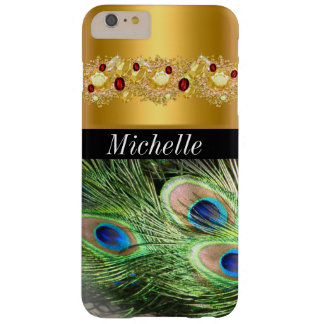 Beautiful Gold and Peacock Iphone 6 Plus Case