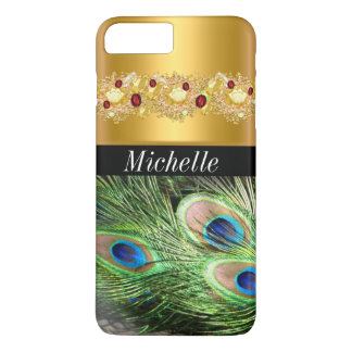 Beautiful Gold and Peacock iPhone 7 Plus Case