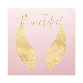 Beautiful Gold Angel Canvas Print