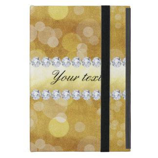 Beautiful Gold Bokeh Foil and Diamonds Case For iPad Mini