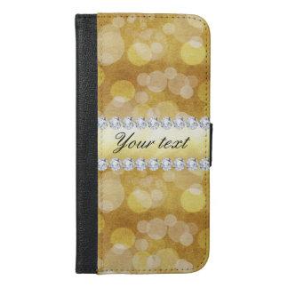 Beautiful Gold Bokeh Foil and Diamonds iPhone 6/6s Plus Wallet Case
