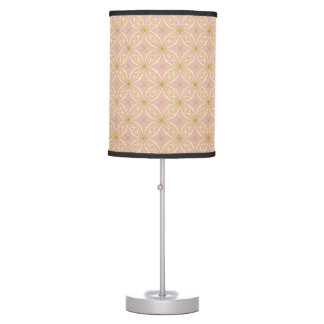 Beautiful Gold & Pink Pattern Table Lamp