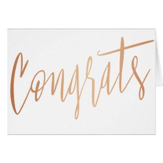 """Beautiful gold rose """"Congrats"""" Card"""