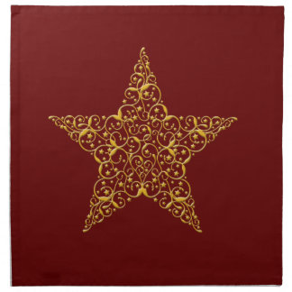 Beautiful Gold Star Napkins