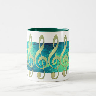 Beautiful Gold Treble Clef Mug