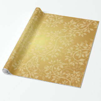 Beautiful Gold Vine Wrapping Paper
