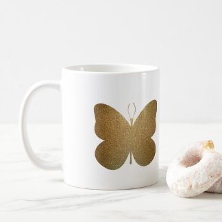 Beautiful Golden Butterfly, Modern Art Coffee Mug