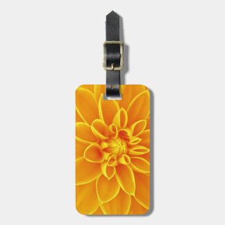 beautiful golden yellow dahlia flower colorful luggage tag
