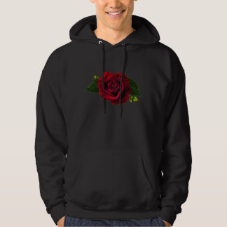 Beautiful Gothic Red Rose Hooded Pullovers