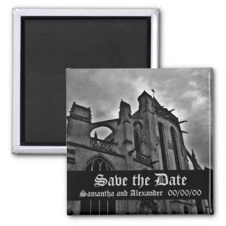 Beautiful Gothic Save the Date Magnet