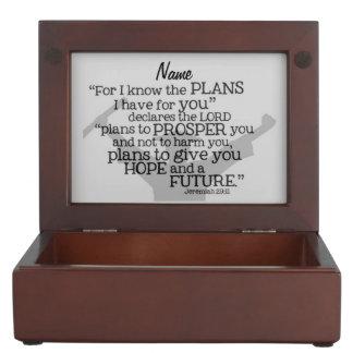 """Beautiful Graduate Verse w/ Customizable Monogram Keepsake Box"