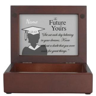 """Beautiful Graduate Verse w/ Customizable Monogram Memory Boxes"