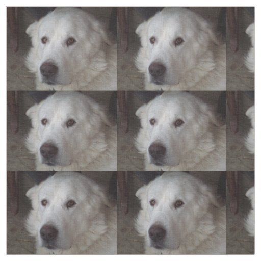 Beautiful Great Pyrenees Dog Fabric