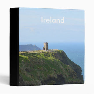 Beautiful Green Cliffs of Moher 3 Ring Binder