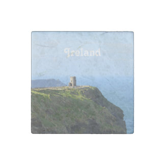 Beautiful Green Cliffs of Moher Stone Magnets