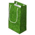 Beautiful green grass texture from golf course small gift bag
