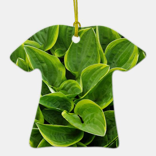 Beautiful green hosta plant ceramic T-Shirt ornament