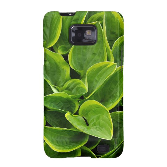 Beautiful green hosta plant galaxy s2 covers