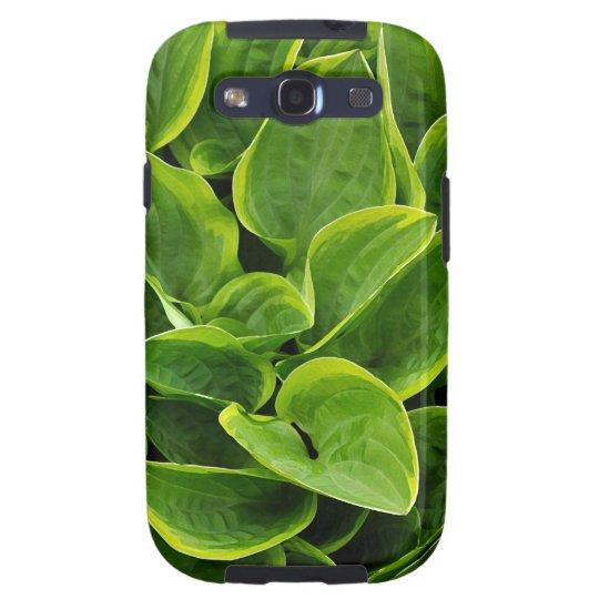 Beautiful green hosta plant galaxy SIII covers