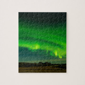 Beautiful Green Iceland northern lights Jigsaw Puzzle