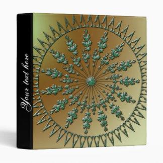Beautiful green ornament binder