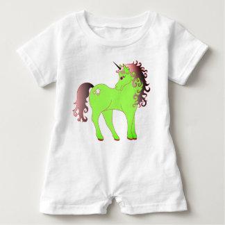 Beautiful Green Unicorn Baby Romper