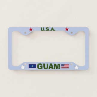 Beautiful Guam Metal License Plate Frame