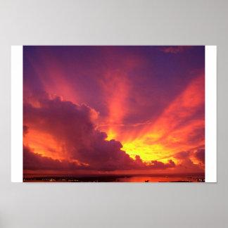 Beautiful Guam Sunset Poster