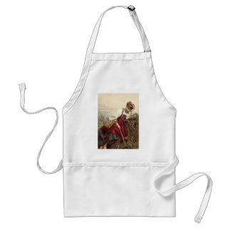 Beautiful Gypsy Girl at rest Standard Apron