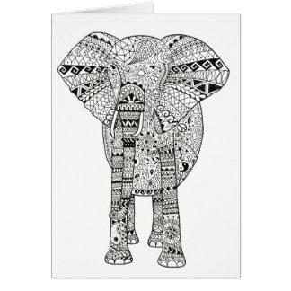 Beautiful Hand Illustrated Artsy Elephant Card