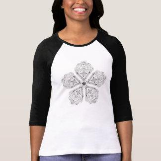 Beautiful Hand Illustrated Boho Artsy Flower T-Shirt