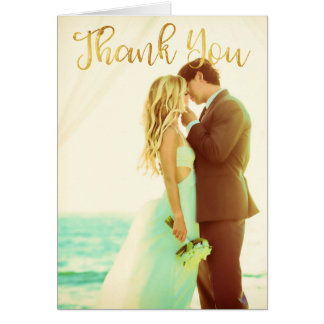 Beautiful Hand Lettered Thank You Card With Floral