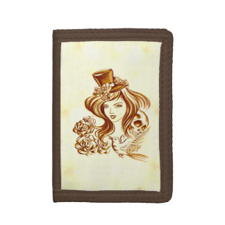 Beautiful Hand Painted Coffee Art TriFold Wallet