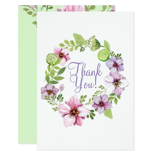 Beautiful Hand Painted Floral Whimsical Design Card